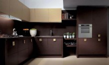 Simple Dark Brown Color Kitchen Cabinet Design Excellent