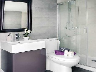 Sink for Simple Bathroom Design Without Bathtub