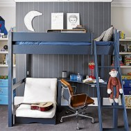 Small Bedroom Ideas For Teenage Boys With Bunk Beds Combined With Tables For Learning