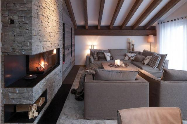 Sofa Choice for Rustic-style Luxury House Design