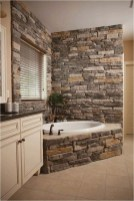 Stone Expose Wall In Rustic Bathroom