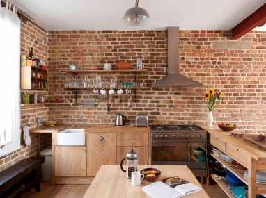 Traditional Touch for Elegant Brown Minimalist Kitchen Decorating Ideas