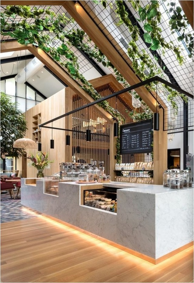 Transparent Roof Coffe Shop Design