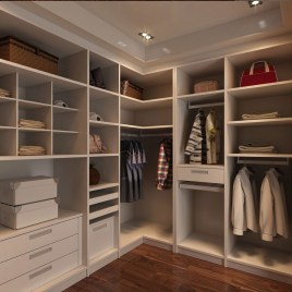 Wardrobe for Utilization of Corner Space in the House