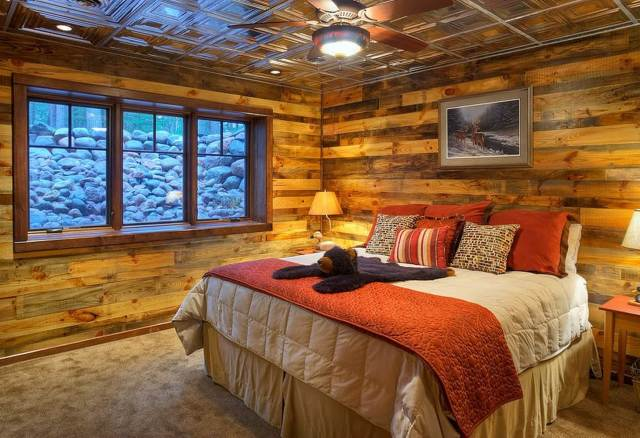 Wood and Metal Alloy for Bedroom Decorating Ideas with Wood Accents