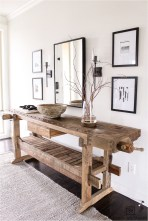 Wood Table In Entri Way Rustic Home
