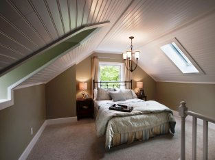 Ceiling to be Used as a Floor for Comfort Attic Bedroom