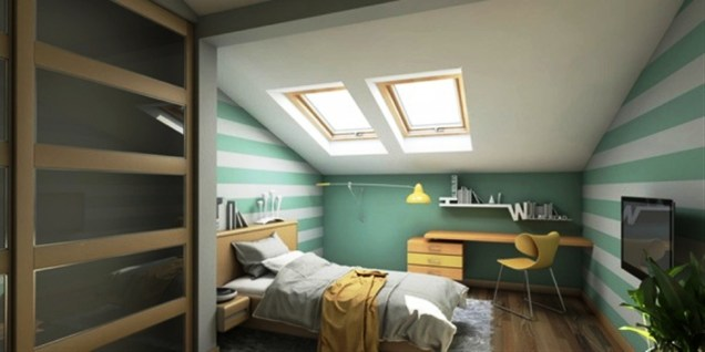 Color for Comfort Attic Bedroom