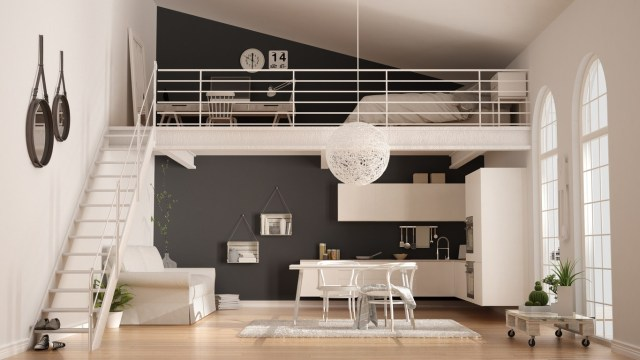 Concept of Menzzanine for Studio Type Apartment