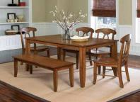 Curved Seats for Open Style Dining Room