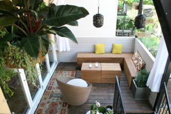 Furniture from The Wood for Changing Terrace into Closed Living Room