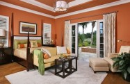 Natural Warm Color for Comfortable Mediterranean Style Bedroom