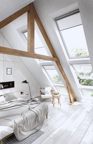 Windows for Comfort Attic Bedroom