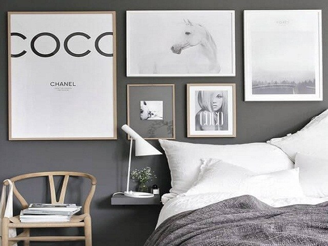Accessories for Bedroom with Black-White Theme