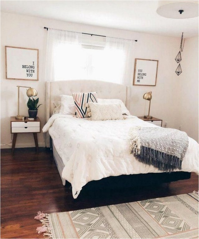 Simple Contemporary Bedroom Ideas With Wood Floor