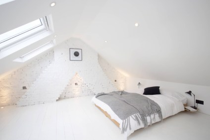 Triangle for Bedroom with Brick Accents