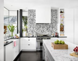 Wallpaper for Kitchen Design Ideas with Amazing Wall Decorations