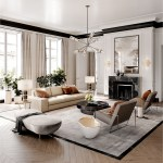 White And Light Brown Apartment Design