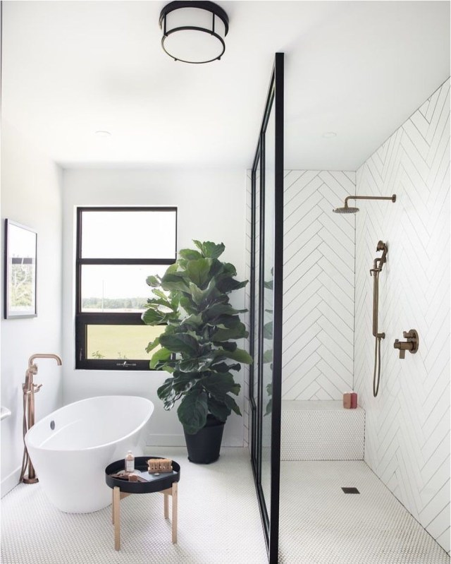 White Bedroom With Bathub Ideas