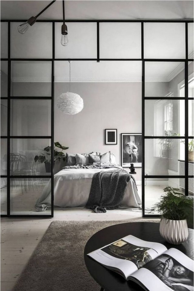 White, Grey, And Black Bedroom Decorations