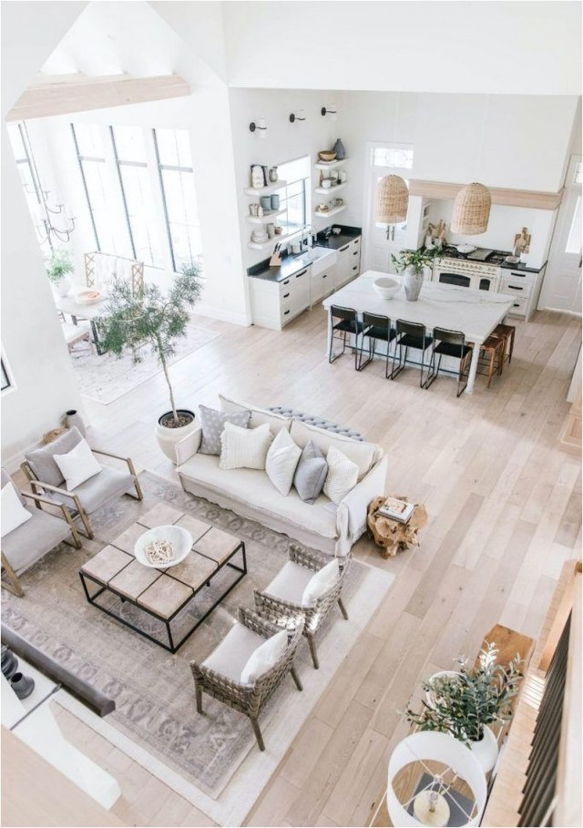 Wood Floor And Wood Accent For Natural Home Design