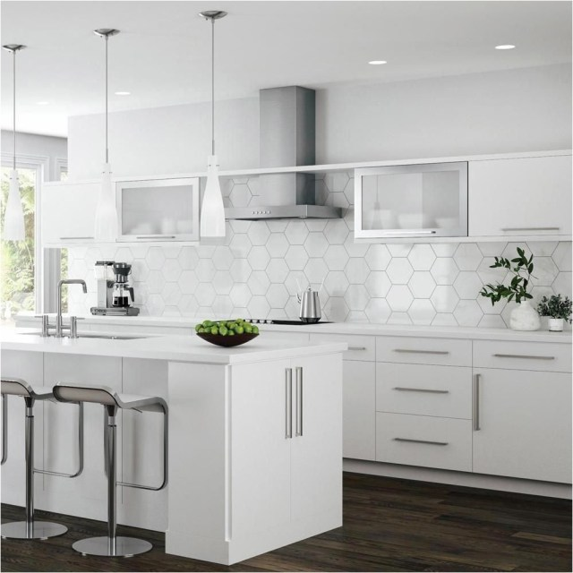 Beehive Backsplash Kitchen Ideas With White Color
