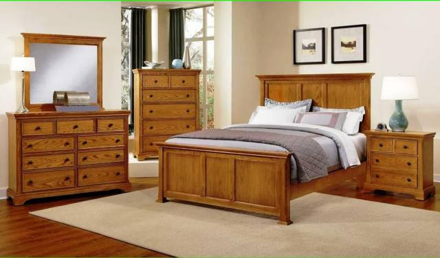 Contrast for Wooden Furniture in Your Bedroom