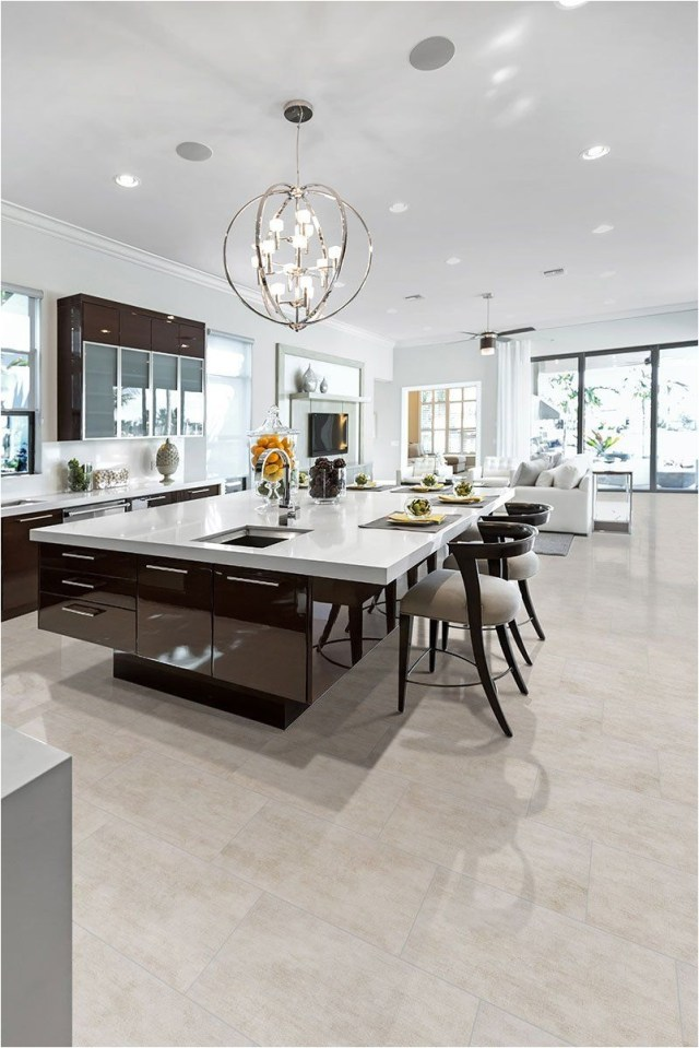 Luxury Kitchen Ideas With Marble Table