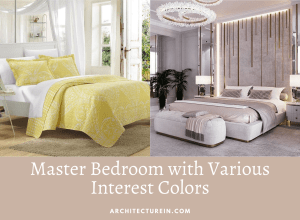 Master Bedroom With Various Interest Colors