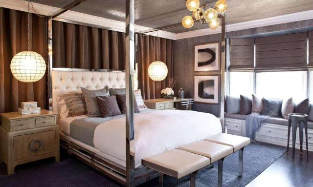 Metallic for Master Bedroom with Various Interest Colors