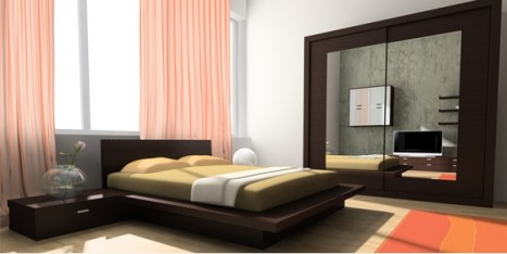 Reflective Objects for Amazing Idea in Decking a Small Bedroom