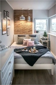 Small Bedroom With Exposed Brick Decorations