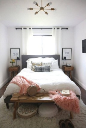 Small Bedroom With Rug And Large Window