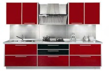 Thick Red Color for Modern Kitchen with Red Theme