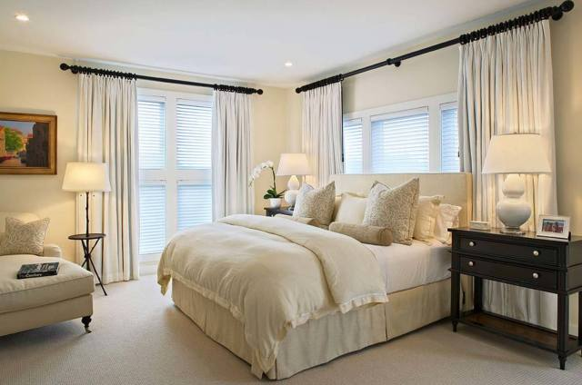 Various White Accessories for Master Bedroom with Various Interest Colors