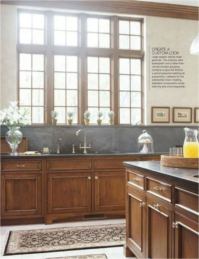 Traditional Kitchen With Black Accent
