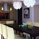 Center of Attention for Dining Room Interior with Traditional Touch of Wood