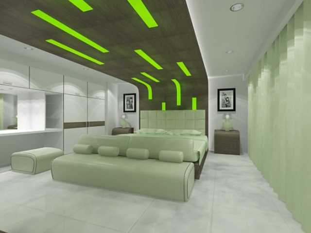 Futuristic for Green Bedrooms Inspiration