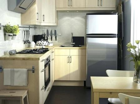 L Shape for Charming Small Kitchen Design