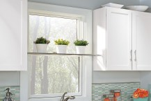 Large Window for Charming Small Kitchen Design