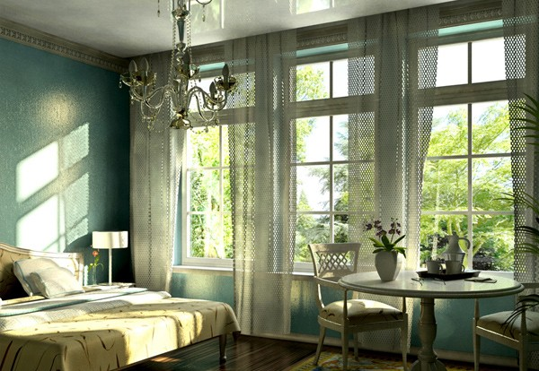 Peace of Nature for Green Bedrooms Inspiration