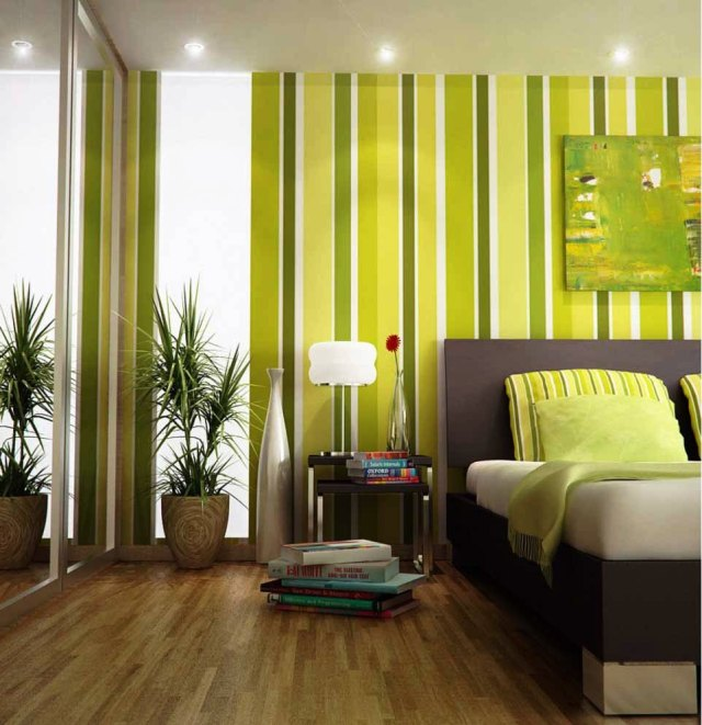 Retro for Green Bedrooms Inspiration