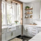 Small Kitchen With Large Window To Lightning And Circulations