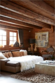 Carpet And Wood Rustic Interior Design
