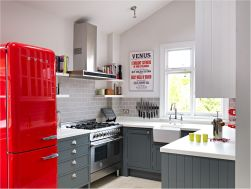 Contrast Accent for Change the 2x3 Meters Sized Small Kitchen