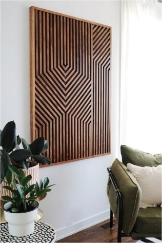 Geometric Wood Art Decorations