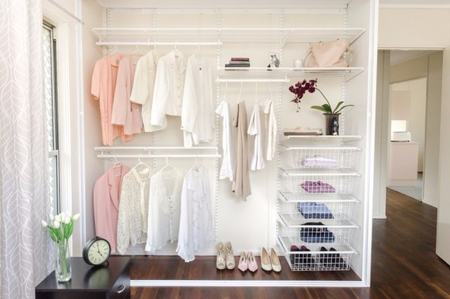 No Door for Wardrobe Designs that Appropriate to Your Bedroom Theme