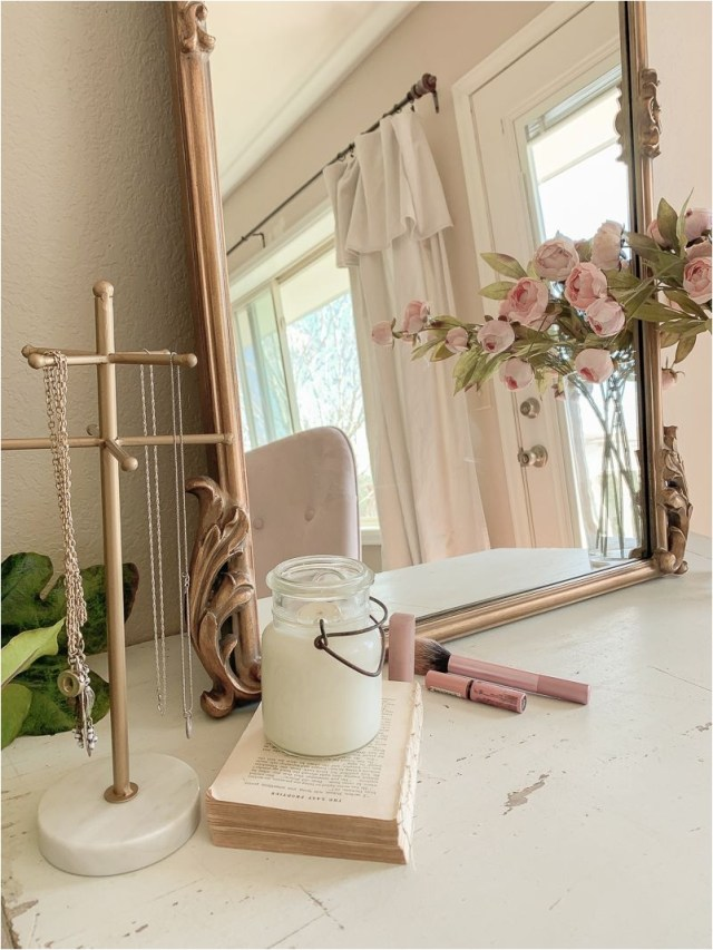 Pretty Rose Gold Mirror The Bedroom