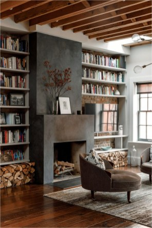 Reading Room With Wood Accent