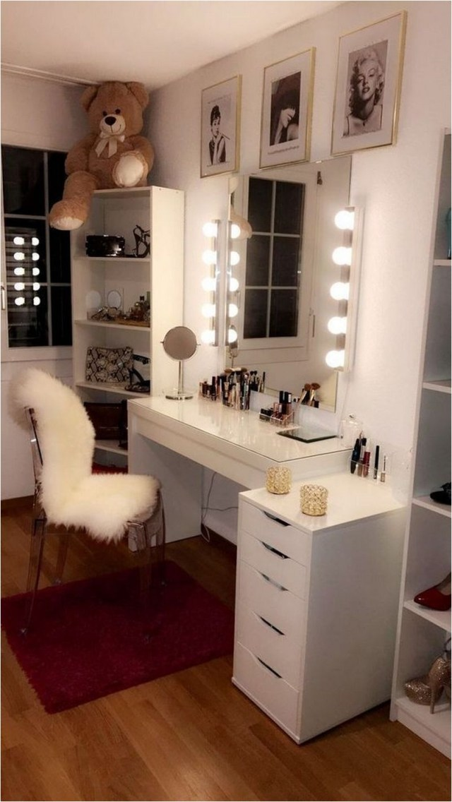 Save Space, Shelf And Mirror Collage Dorm Decorations